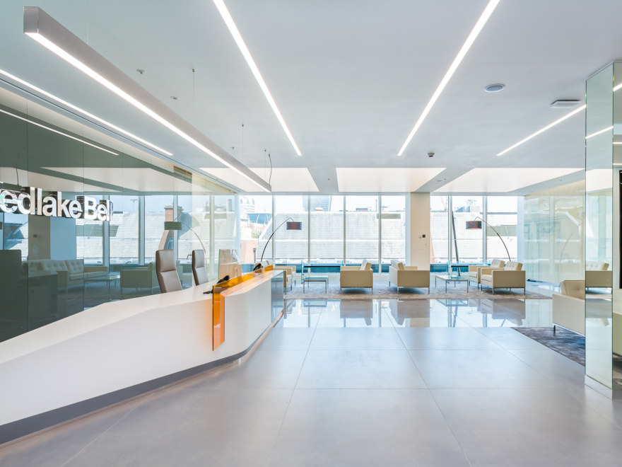 Reception design for legal firm Wedlake Bell