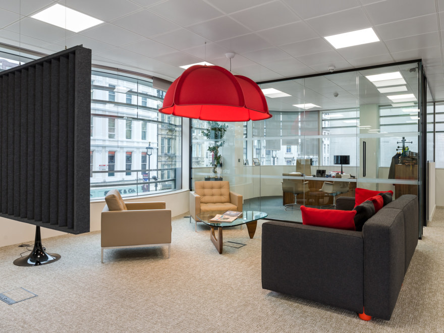 breakout area for a London Investment company
