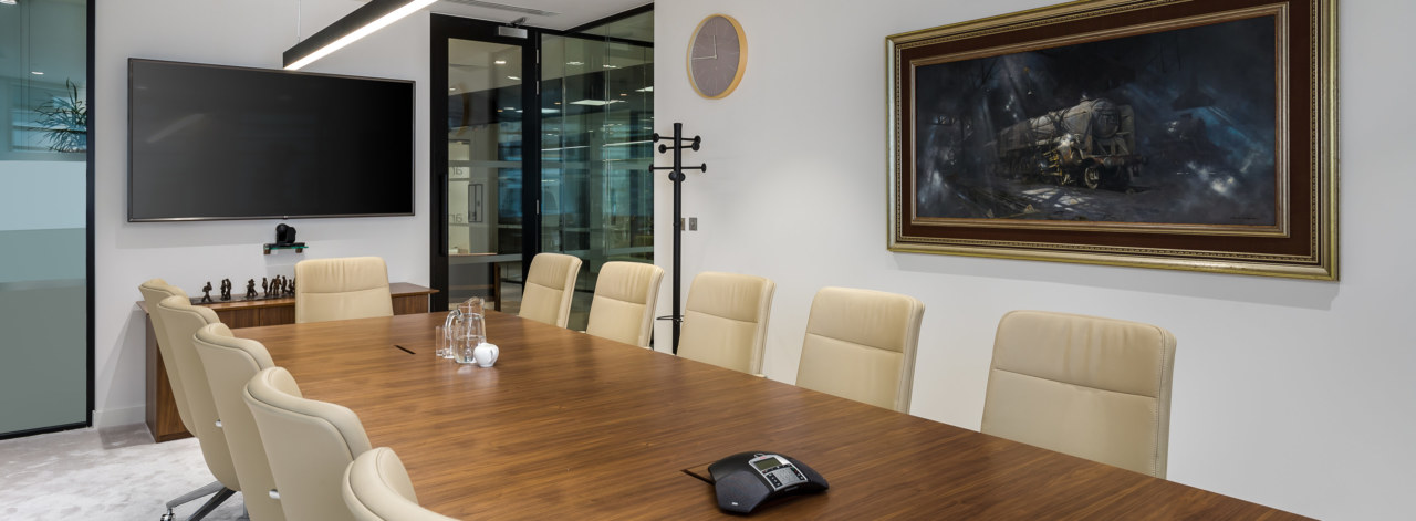 Boardroom design for a London Investment company