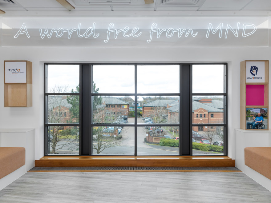Large windows in office fit out