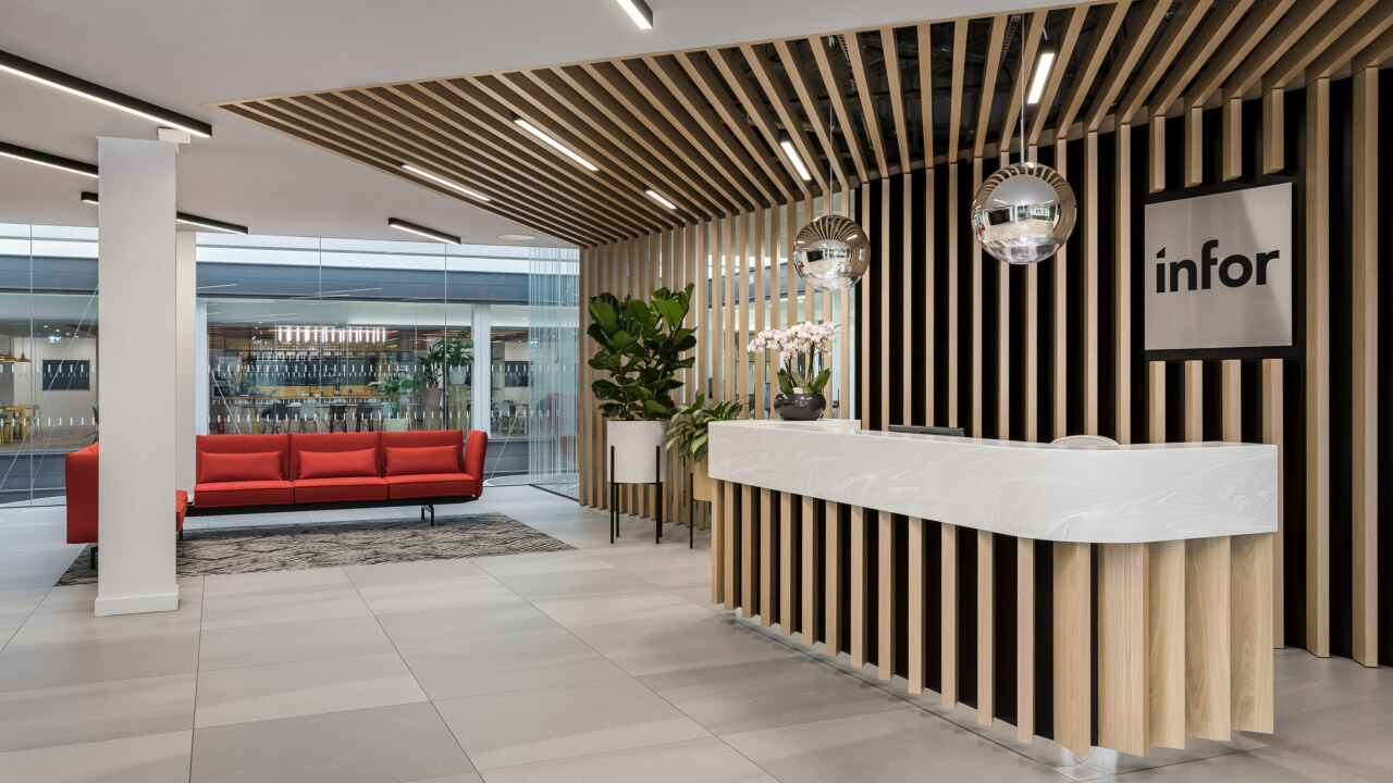cat b office fit out reception
